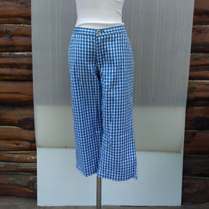 Tommy Hilfiger Cropped Pants 9 Blue White Cotton